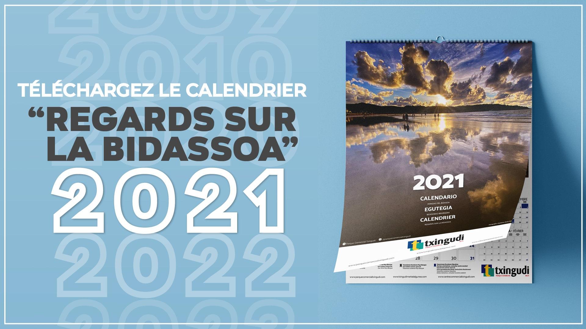 Téléchargez le calendrier Regards sur la Bidassoa 2021