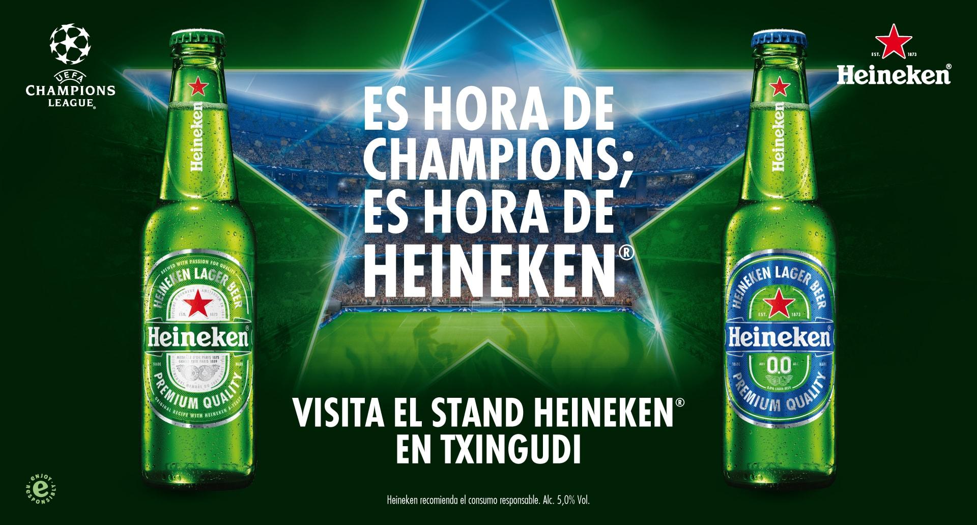 Es hora de Champions; es hora de Heineken