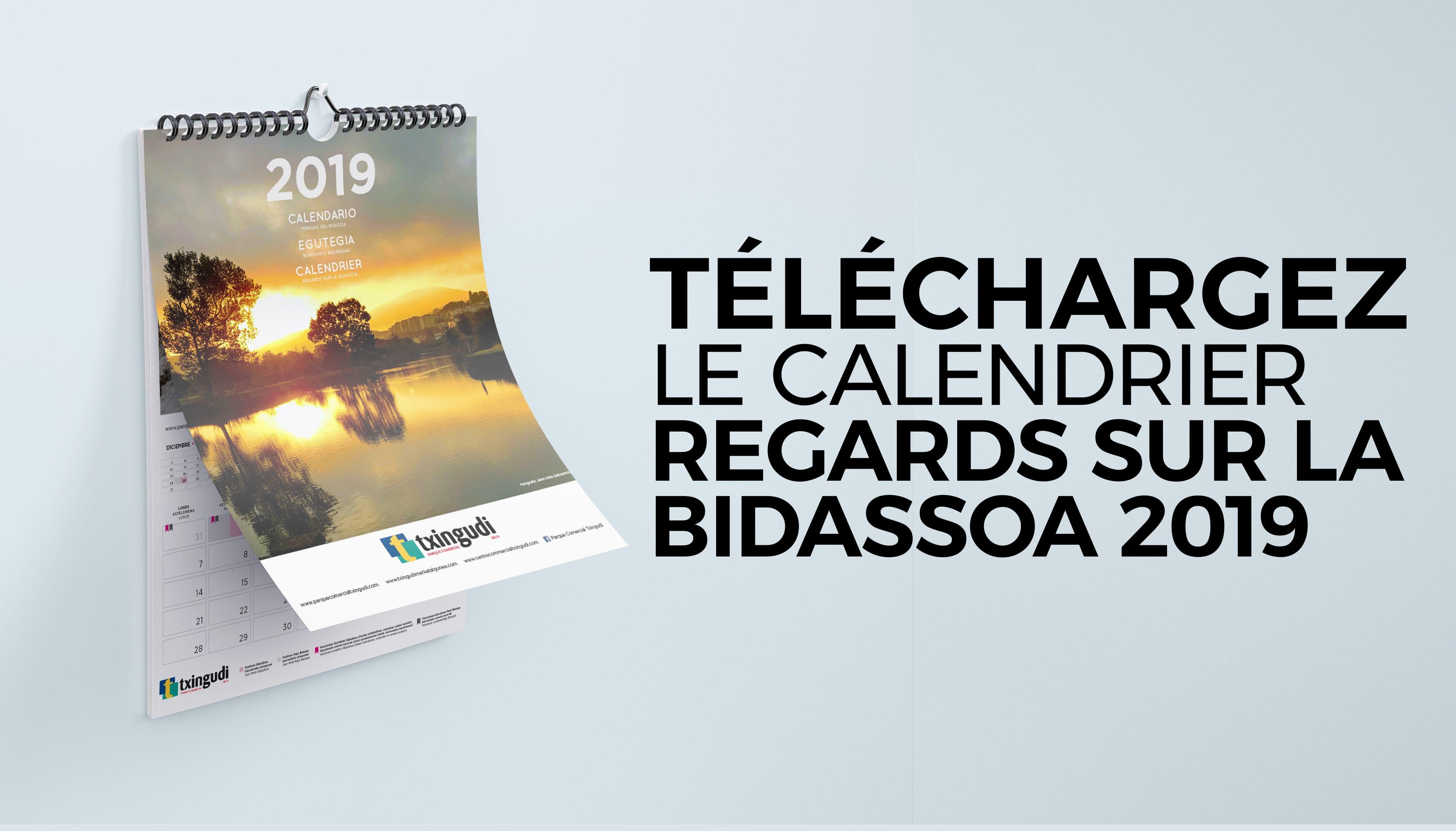 Téléchargez le calendrier Regards sur la Bidassoa 2019
