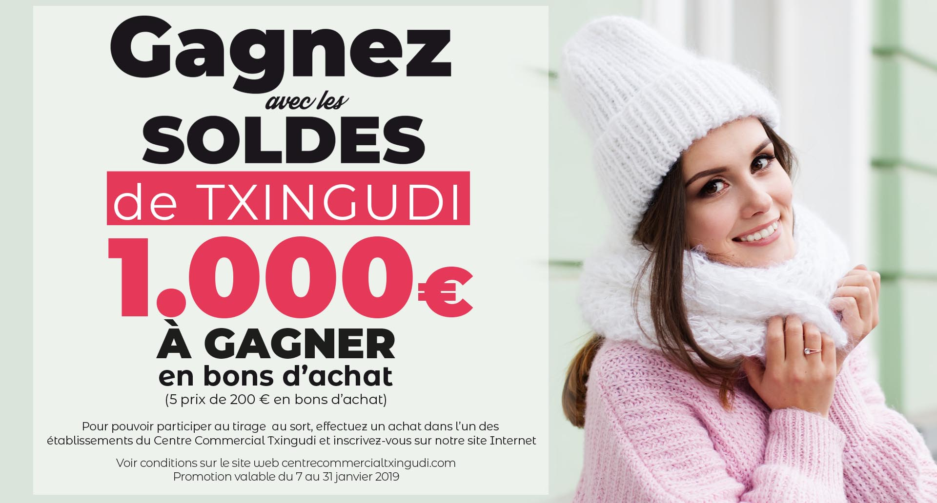 Gagnez avec les soldes de Txingudi, 1.000€ à gagner en bons d'achat