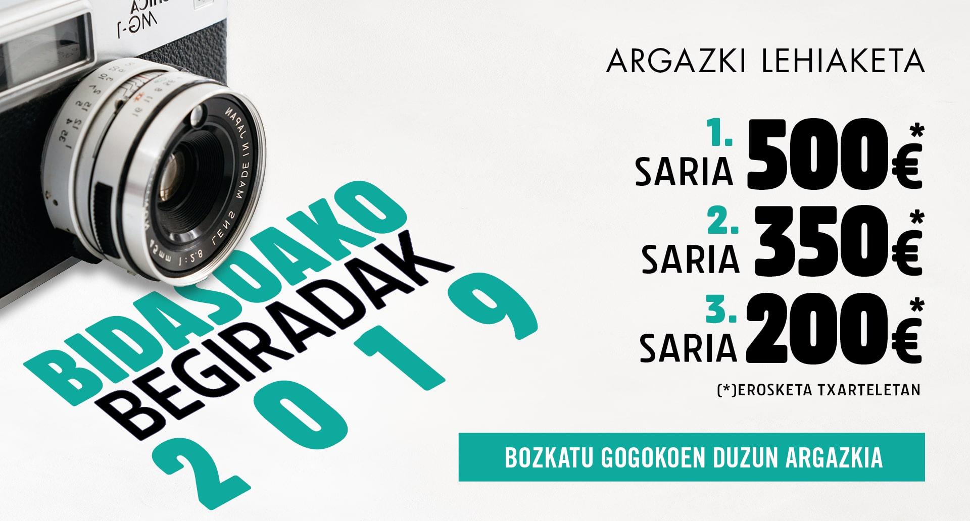 Dagoeneko bozka ditzakezu Bidasoako Begiradak lehiaketan parte hartu duten argazkien artean zure gogokoenak 2019
