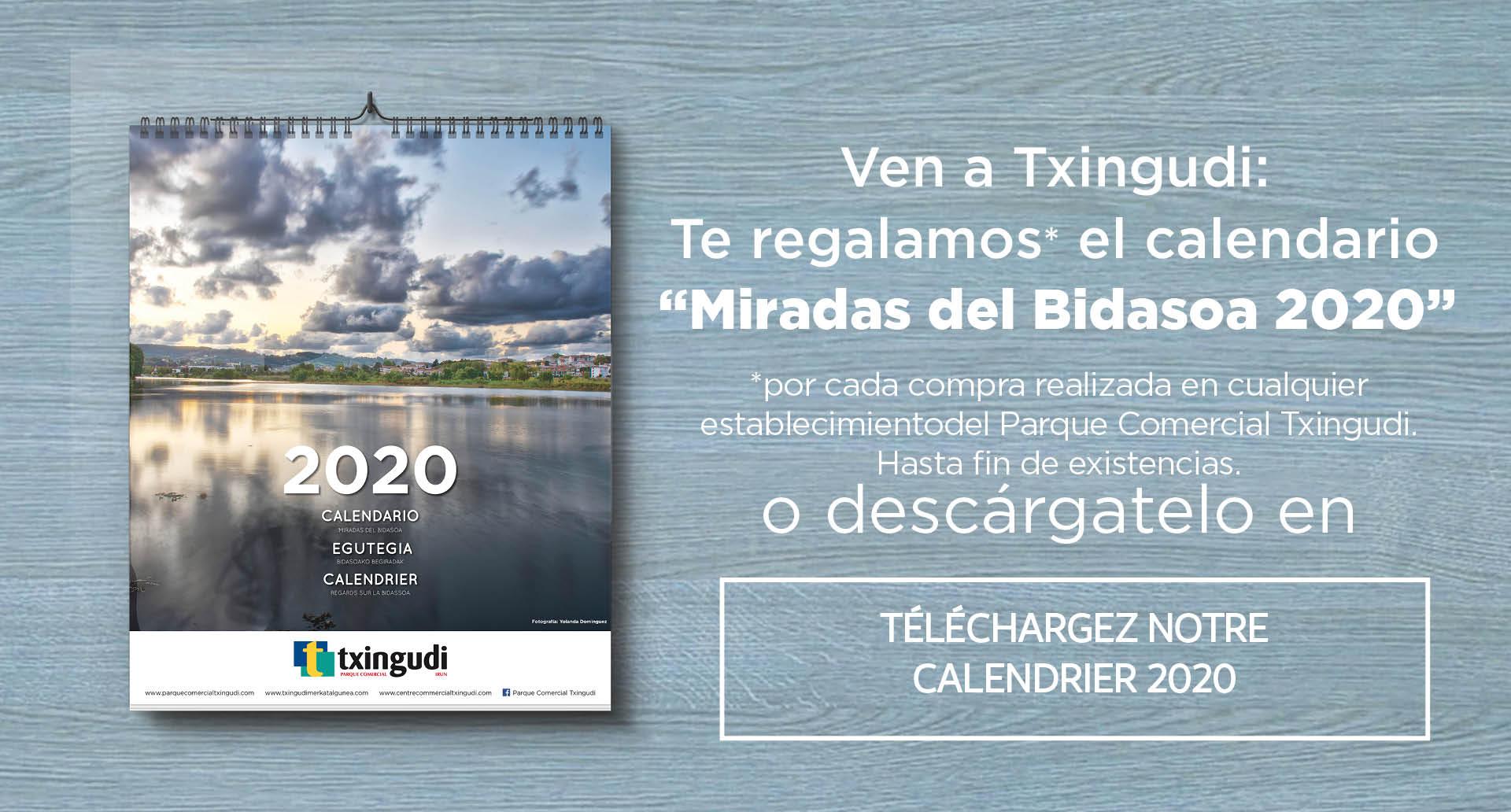 Téléchargez le calendrier Regards sur la Bidassoa 2020