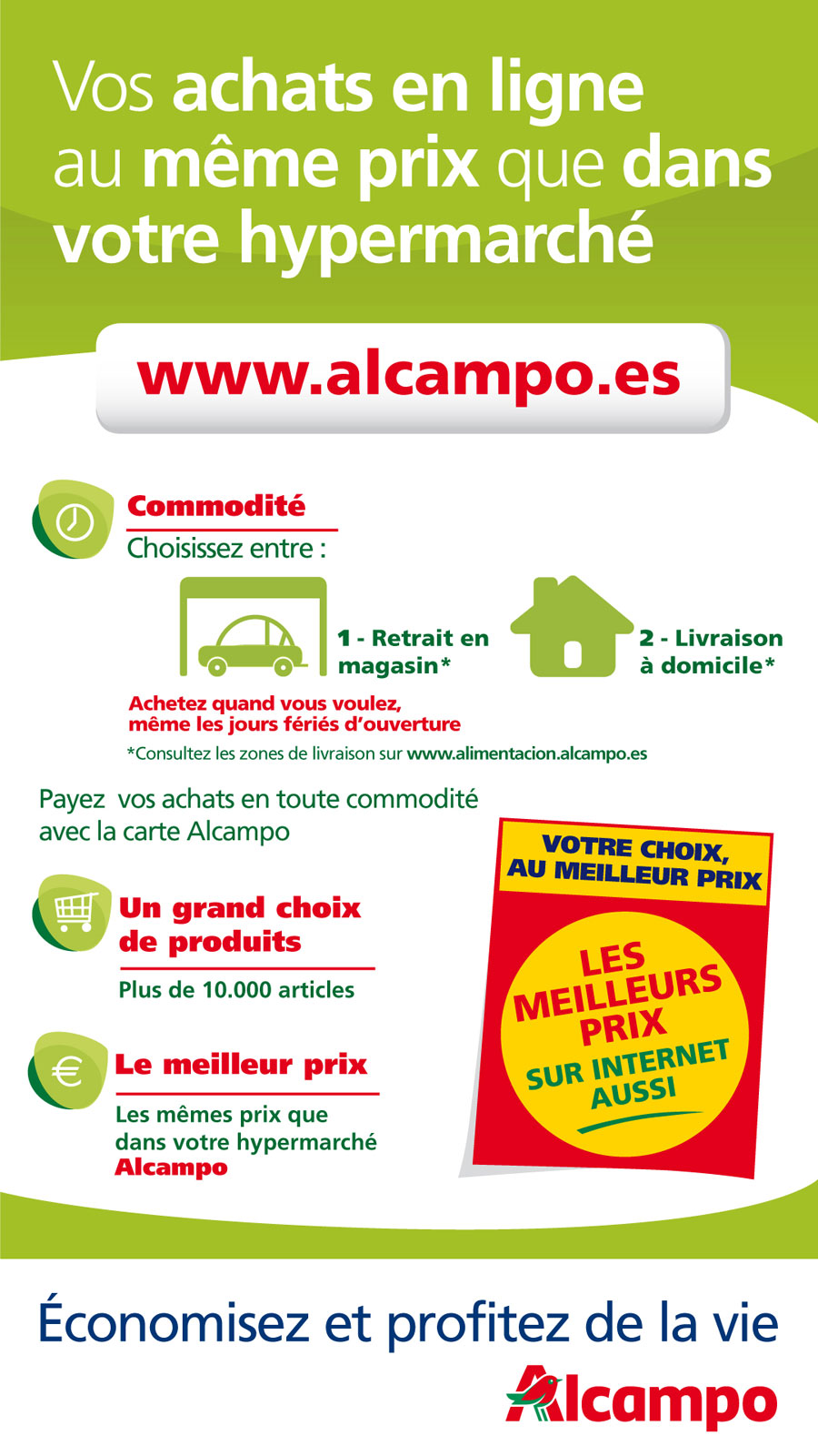 Compra online Alcampo fra